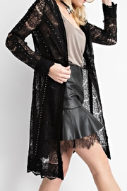 Vocal Apparel Studded Suede Lace-Jacket - Side cropped