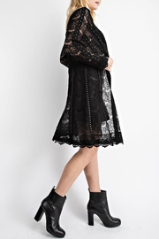 Vocal Apparel Studded Suede Lace-Jacket - Front full body