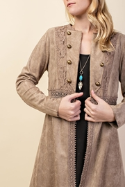 Vocal Apparel Suede Duster Jacket - Side cropped
