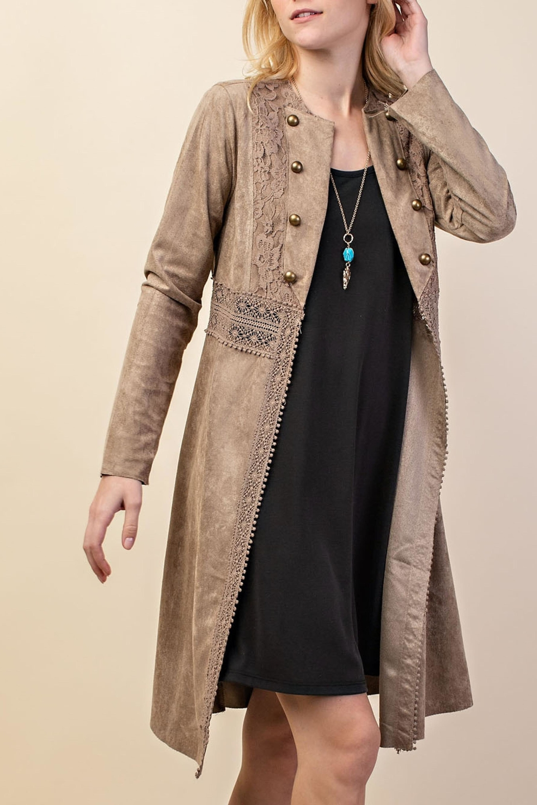 Vocal Apparel Suede Duster Jacket - Main Image