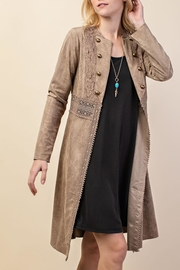 Vocal Apparel Suede Duster Jacket - Product Mini Image