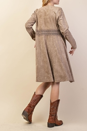 Vocal Apparel Suede Duster Jacket - Front full body
