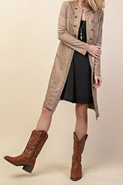 Vocal Apparel Suede Duster Jacket - Back cropped