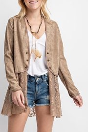 Vocal Apparel Suede Jacket With-Lace - Product Mini Image