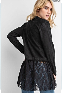 Vocal Apparel Suede Long Sleeve Jacket With Lace - Alternate List Image