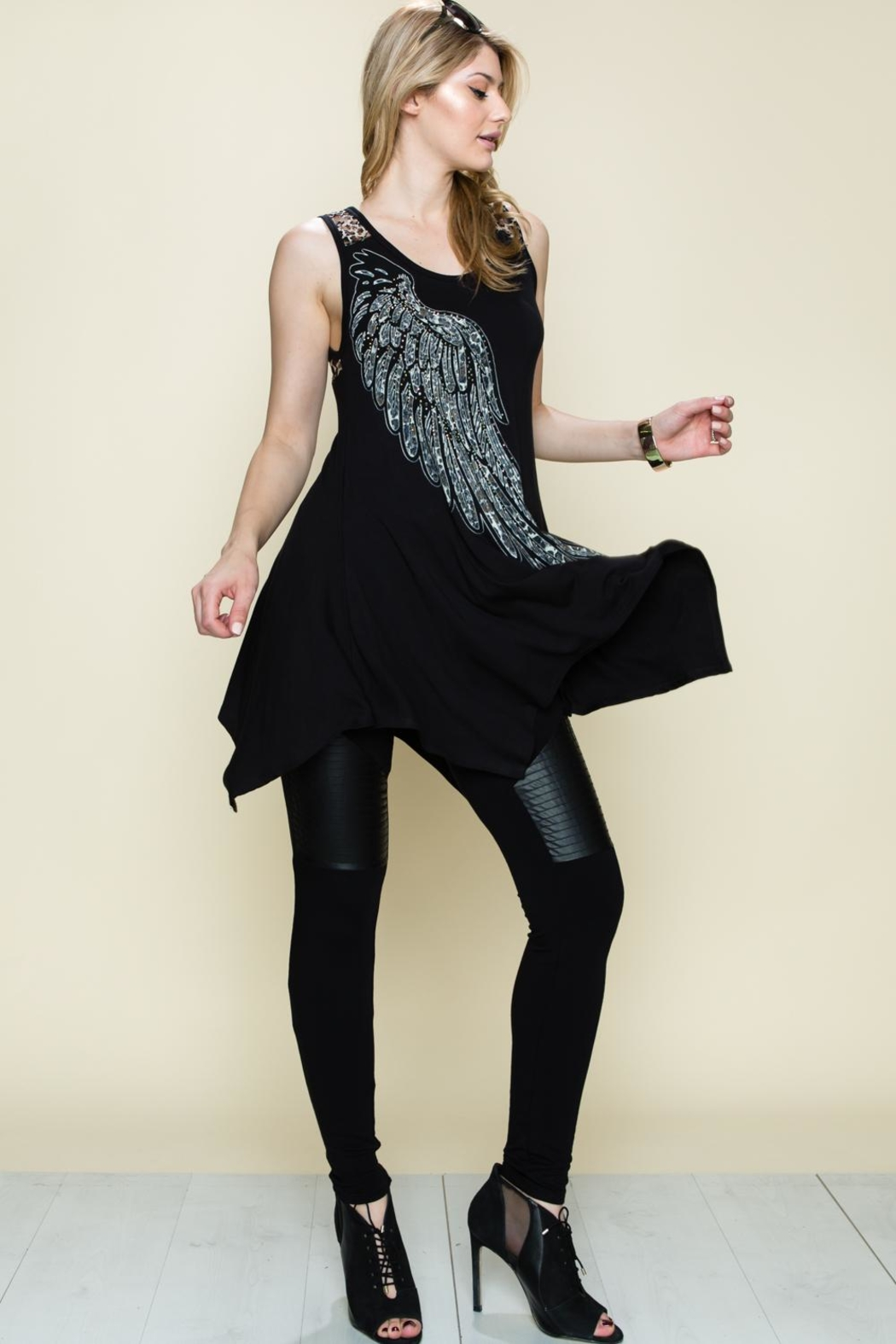 Vocal Apparel Wing Tunic Top - Front Full Image