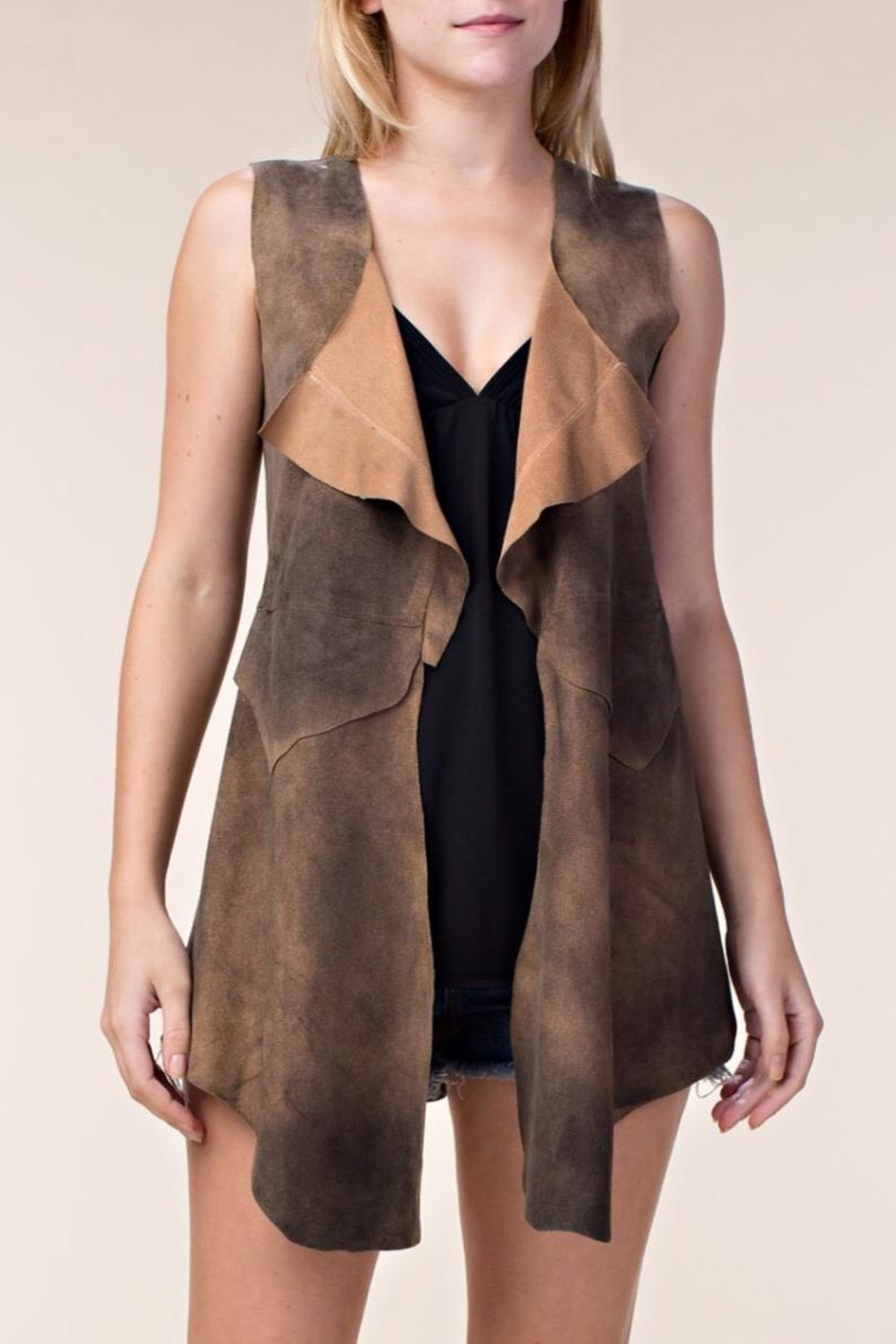 Vocal USA Faux Suede Vest - Main Image