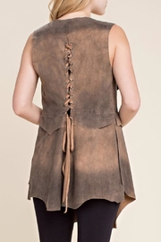 Vocal USA Faux Suede Vest - Front full body