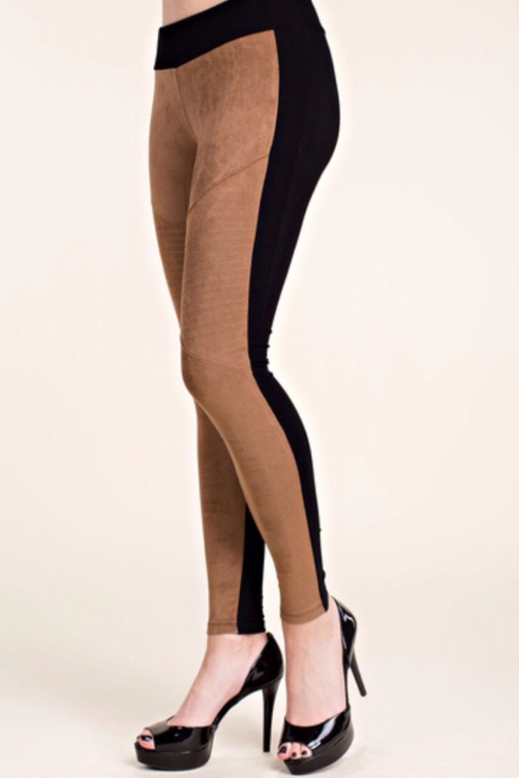 Vocal USA Suede Front Leggings - Front Full Image