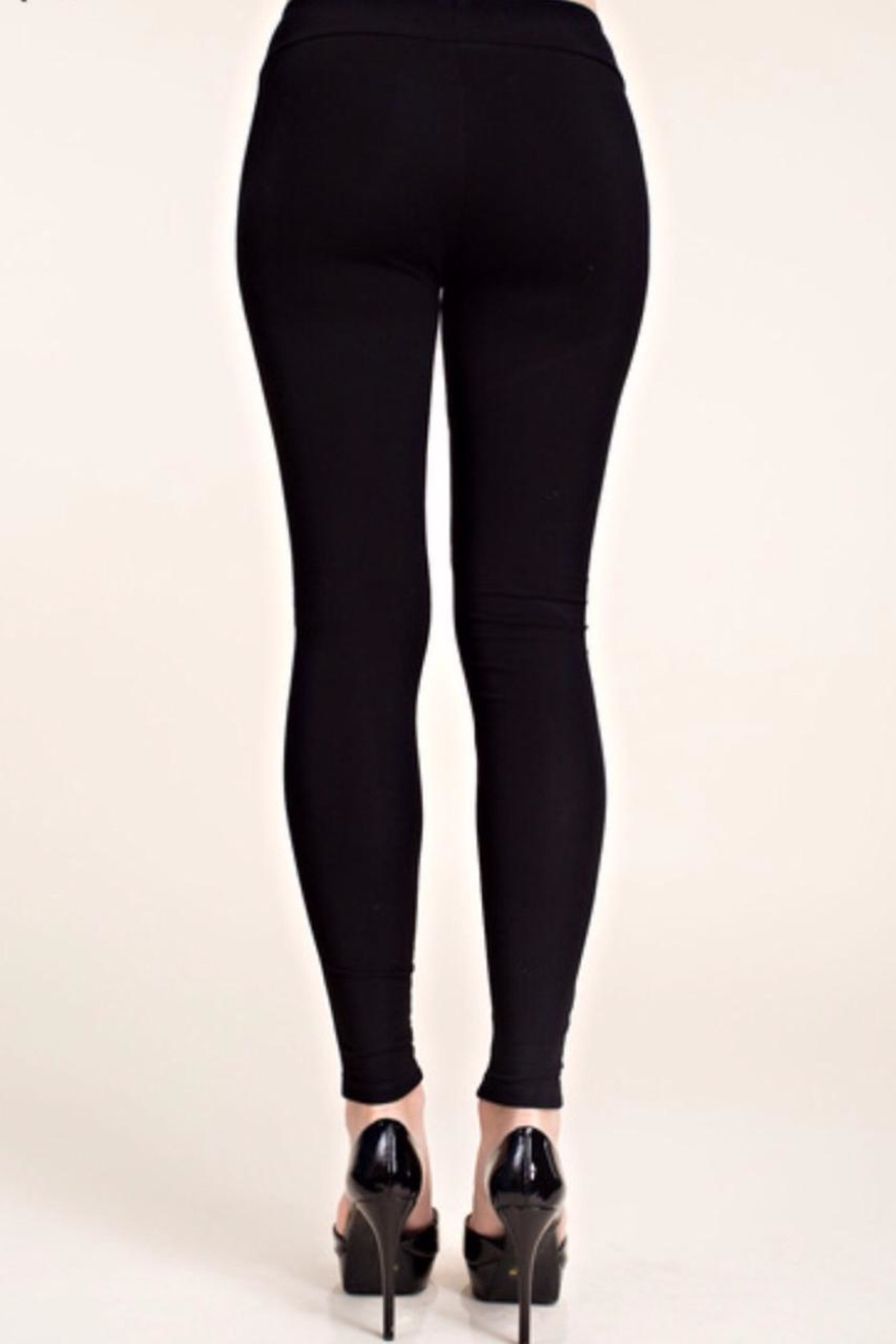 Vocal USA Suede Front Leggings - Side Cropped Image