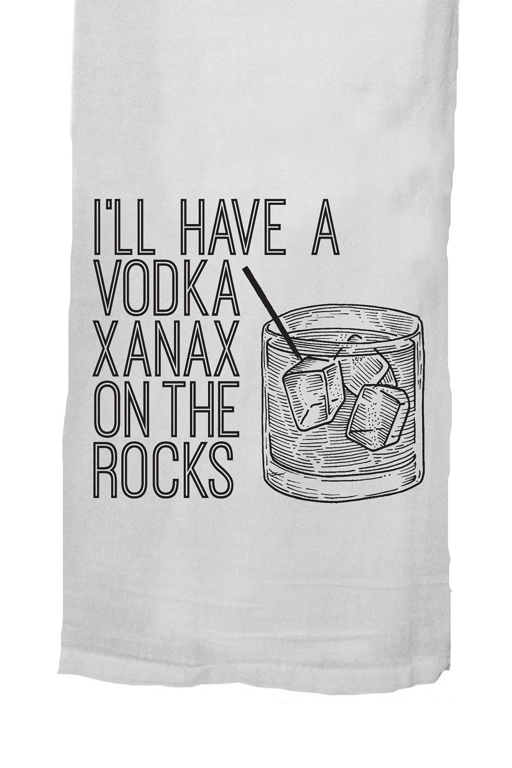 Twisted Wares™ Vodka Xanax Towel - Front Full Image