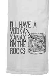 Twisted Wares™ Vodka Xanax Towel - Front full body