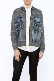 Voice Of California Jean Sweater Zip Jacket - Product Mini Image