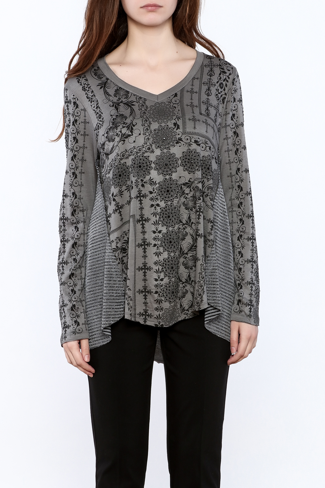 Voice Of California Loose Long Sleeve Top - Side Cropped Image