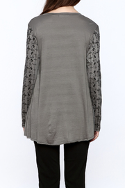 Voice Of California Loose Long Sleeve Top - Back cropped
