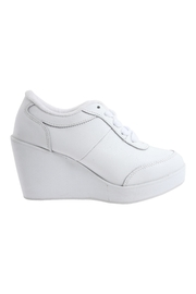 Volatile White Sneaker Wedge - Product Mini Image