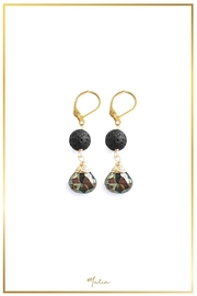 Malia Jewelry Volcanic-Stone Pyrite Earrings - Product Mini Image