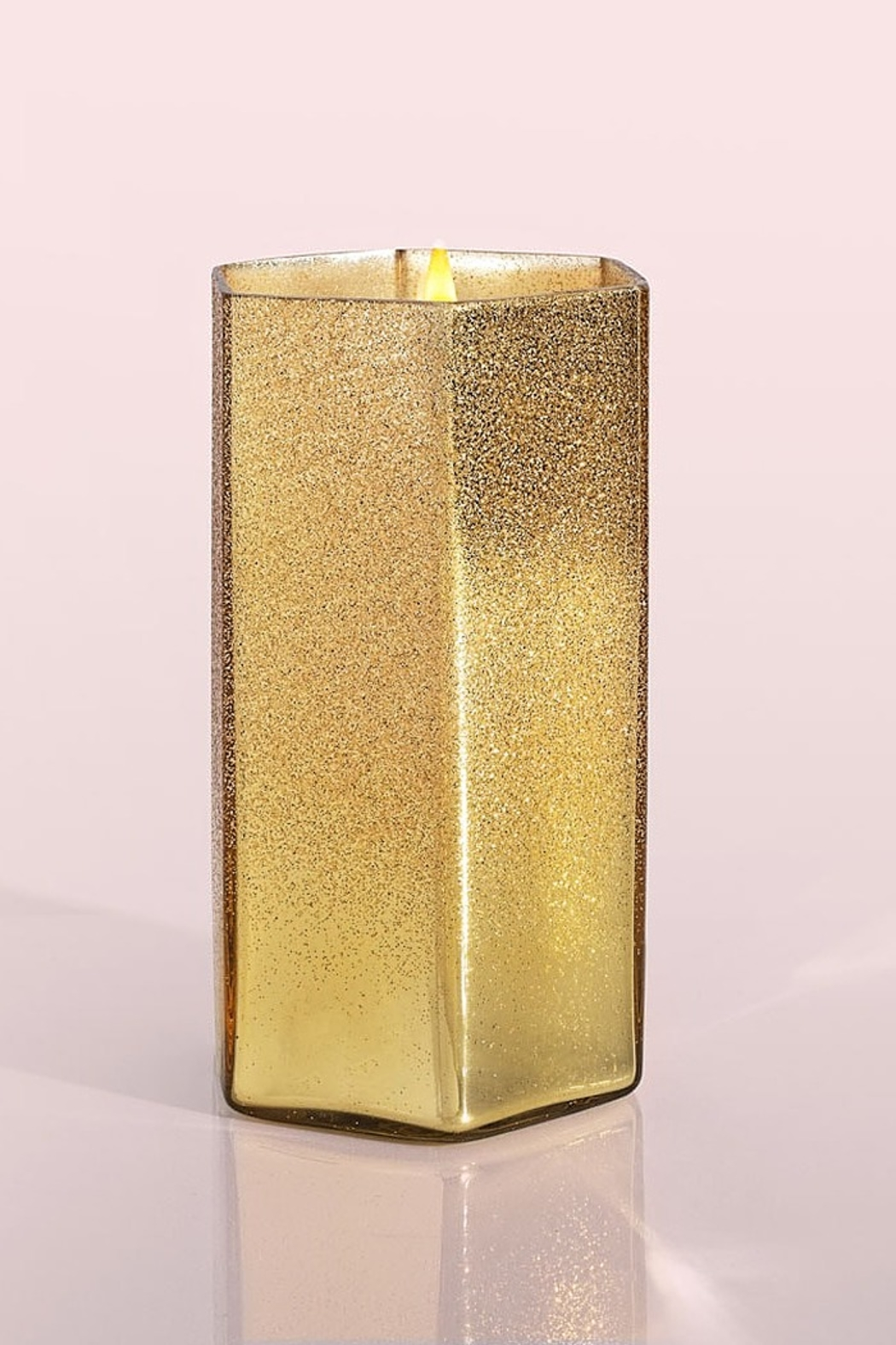 Capri Blue Volcano Gold Glitter Hexagon 17 Ounce Candle - Side Cropped Image