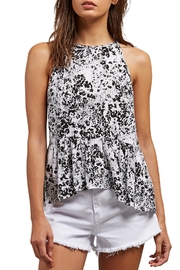Volcom Black Floral Tank - Front cropped
