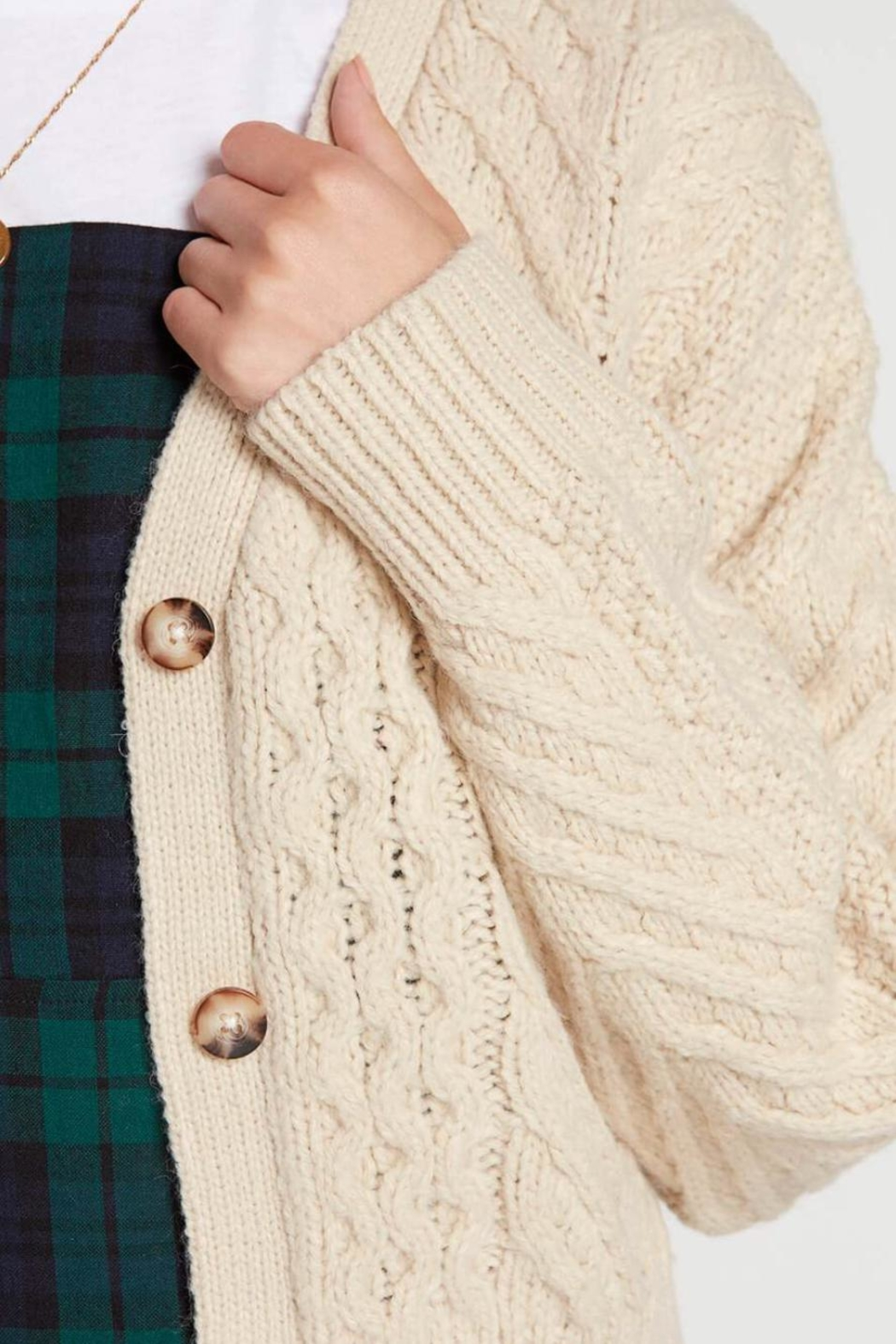 Volcom Cable Knit Cardigan - Side Cropped Image