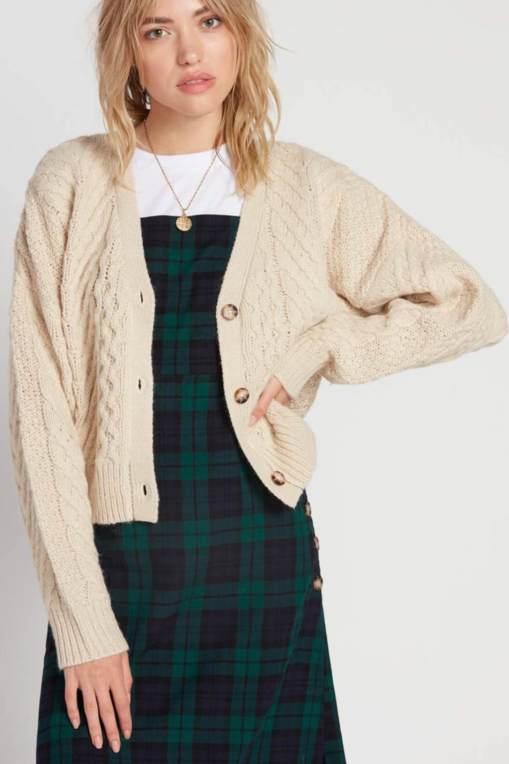 Volcom Cable Knit Cardigan - Main Image