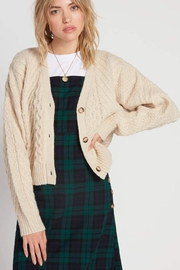 Volcom Cable Knit Cardigan - Front cropped