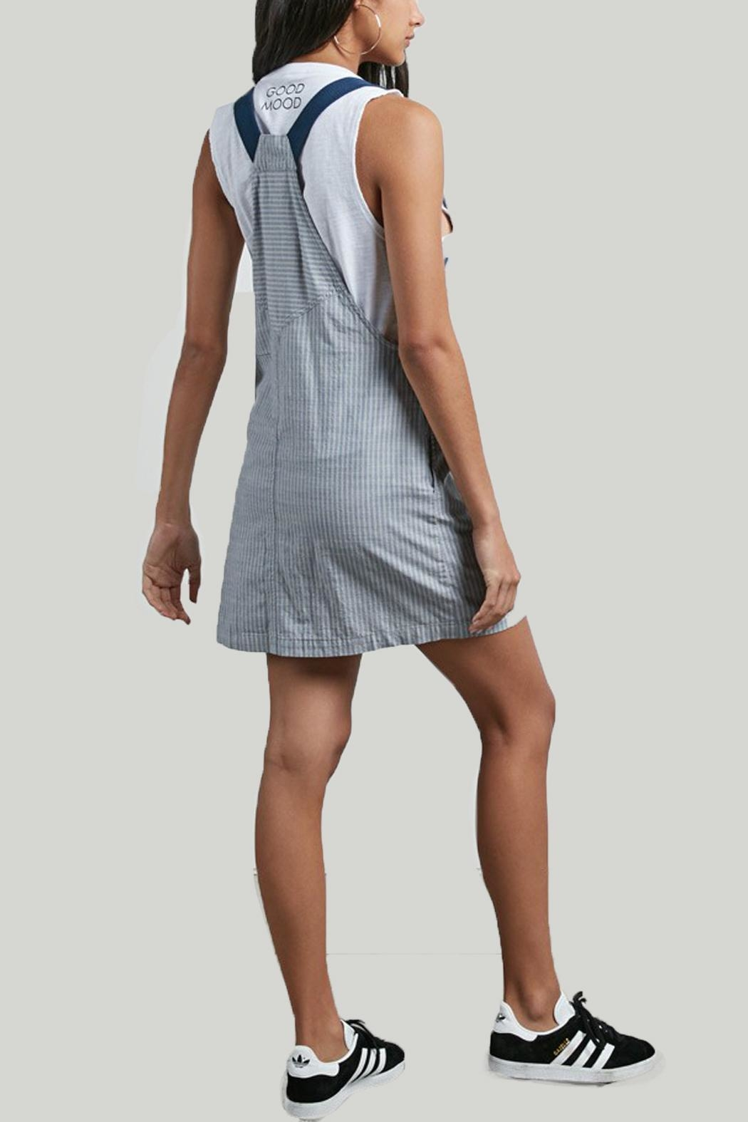 Volcom Cham Striped Dress - Front Full Image