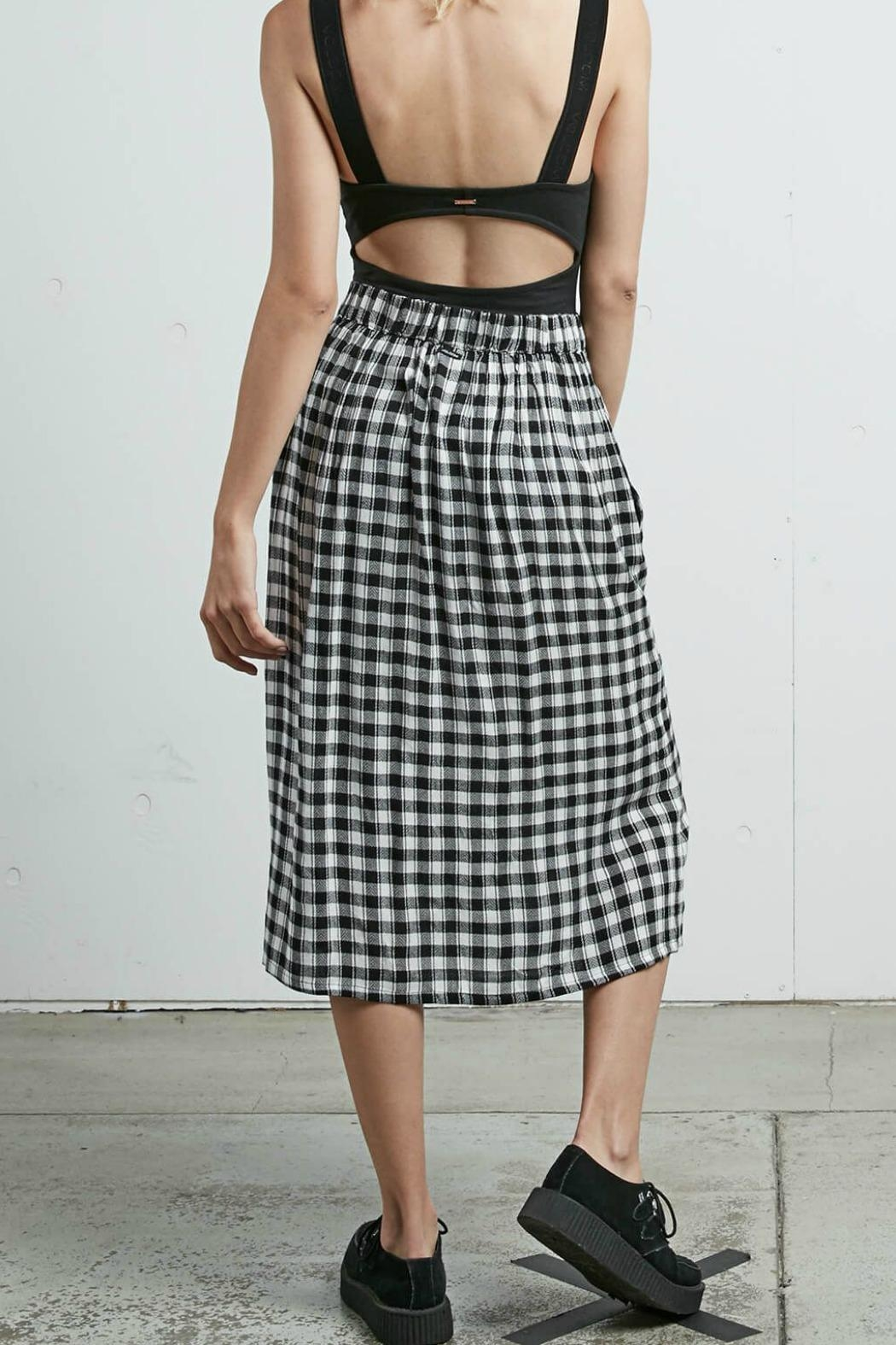 Volcom Plaid Midi Skirt - Front Full Image