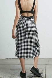 Volcom Plaid Midi Skirt - Front full body
