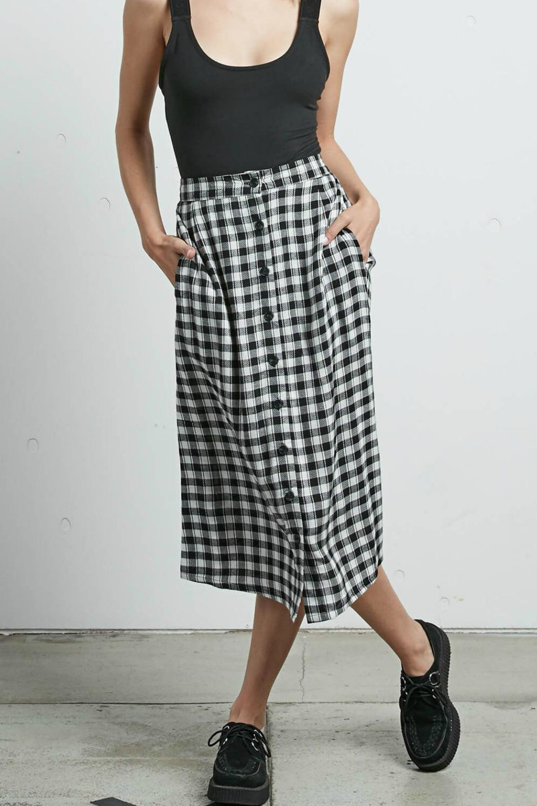 Volcom Plaid Midi Skirt - Main Image