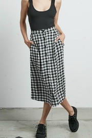 Volcom Plaid Midi Skirt - Front cropped