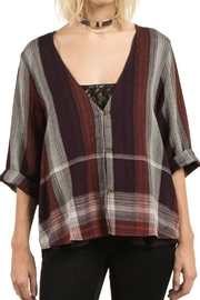 Volcom Plaid Throw Top - Front cropped