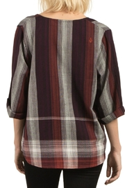 Volcom Plaid Throw Top - Front full body