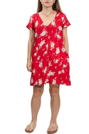 Volcom Red Floral Dress - Product Mini Image