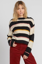 Volcom Striped Cropped Sweater - Product Mini Image