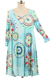 Voll Blue Strappy Tunic - Product Mini Image