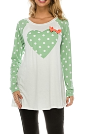 Voll Heart Detail Tunic - Product Mini Image