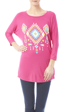 Shoptiques Product: Pink Tribal Top