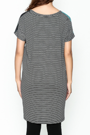 VOLT Design Striped T Shirt Dress - Front cropped