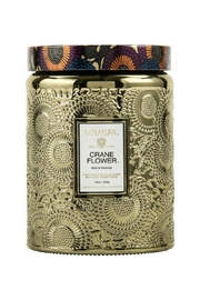 Voluspa Crane Flower Candle - Front cropped