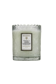Voluspa Frenchcade Scallop Candle - Front full body