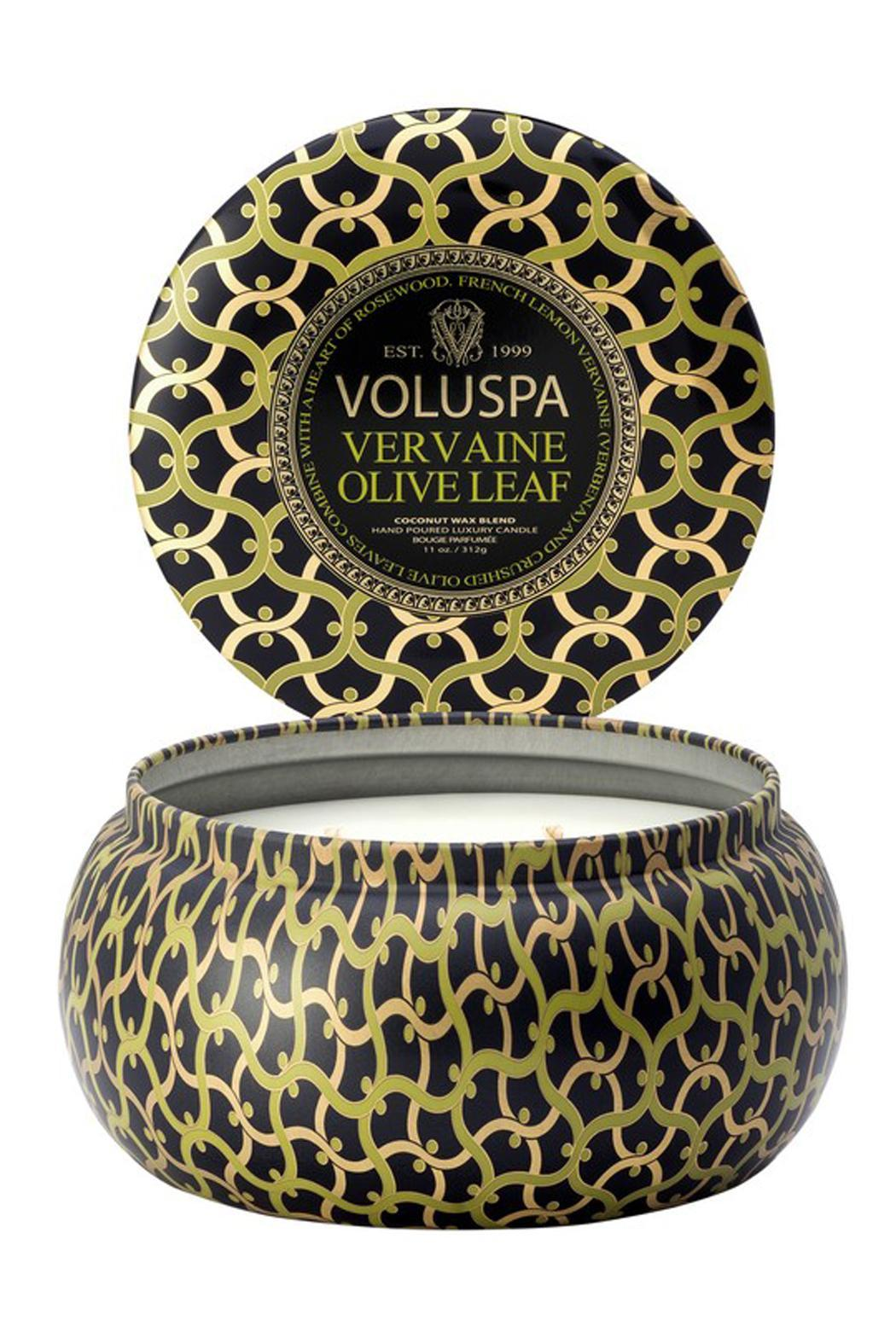 Voluspa Vervaine Olive Leaf Candle - Front Full Image