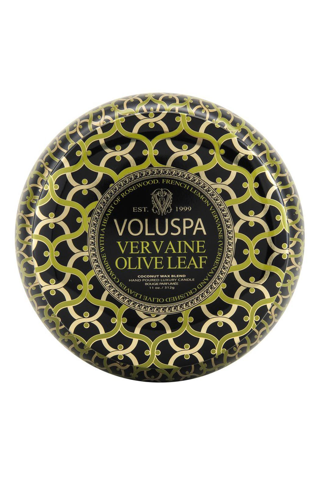 Voluspa Vervaine Olive Leaf Candle - Front Cropped Image