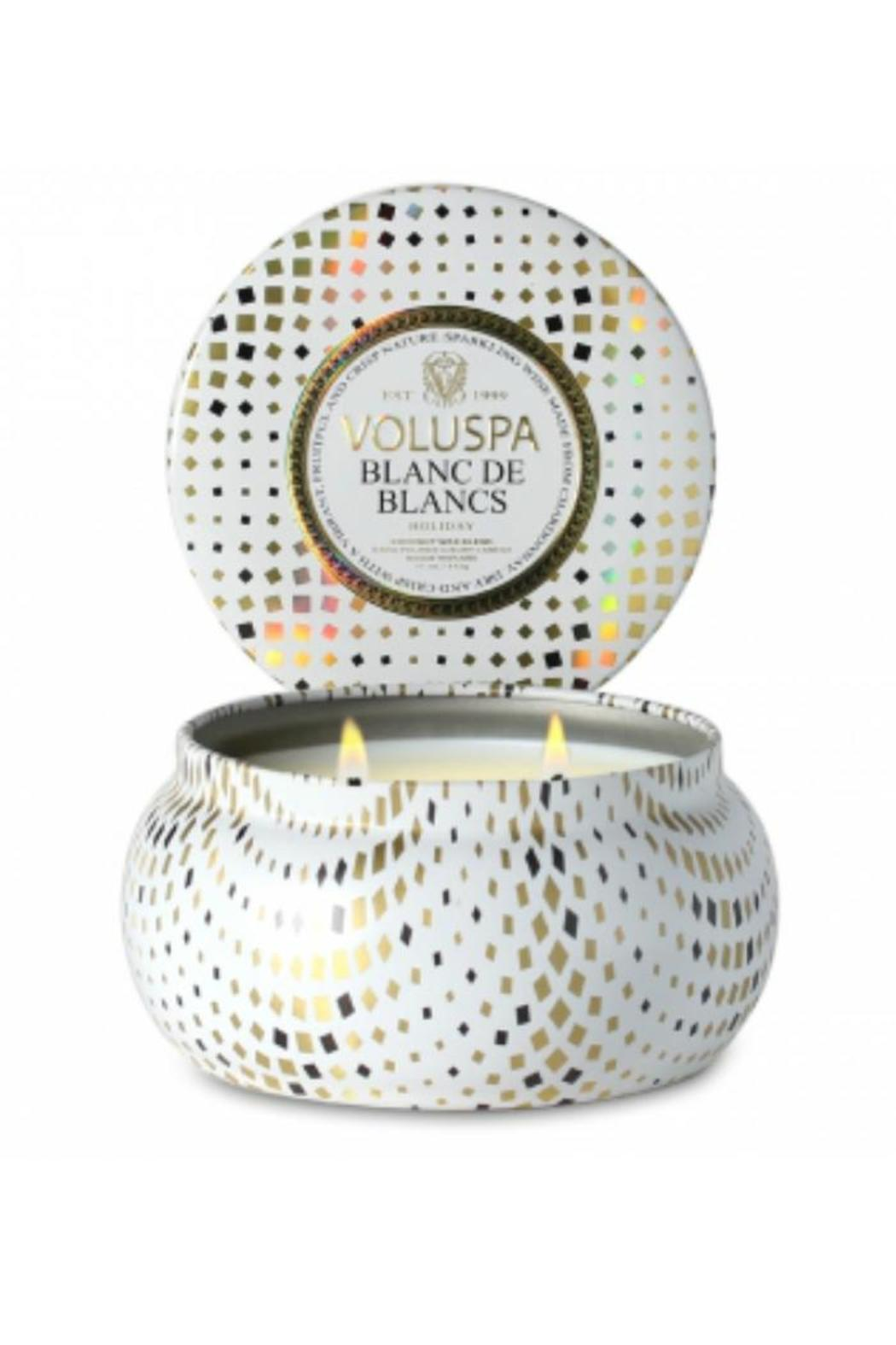 Voluspa Blanc-De-Blanc Metallo Candle - Main Image