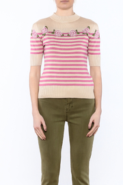 Shoptiques Product: Rose Spring Sweater - Side cropped
