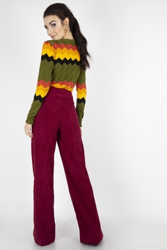 Voodoo Vixen 1970's Wide-Leg Corduroy-Pants - Alternate List Image