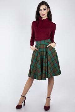 Voodoo Vixen Alex Tartan Circle-Skirt - Product List Image