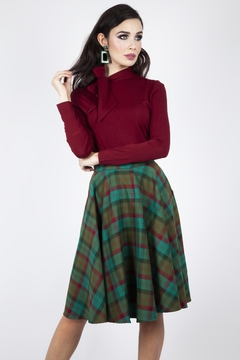 Voodoo Vixen Alex Tartan Circle-Skirt - Alternate List Image