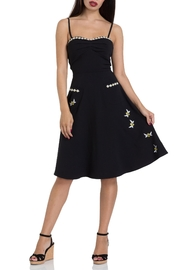Voodoo Vixen Bee Flared Dress - Product Mini Image