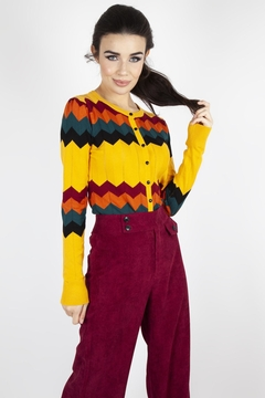 Voodoo Vixen Chevron Knit Cardigan - Product List Image